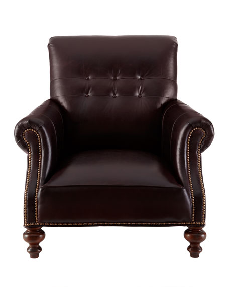 """Mulberry"" Leather Chair"
