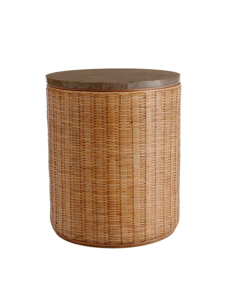 """Curatic"" Woven Side Table"