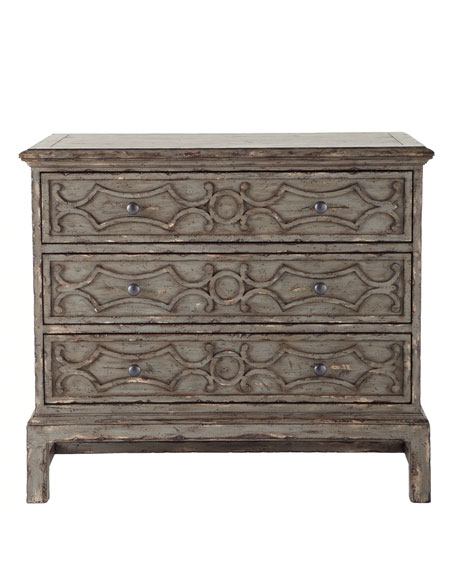 Gray Three-Drawer Chest