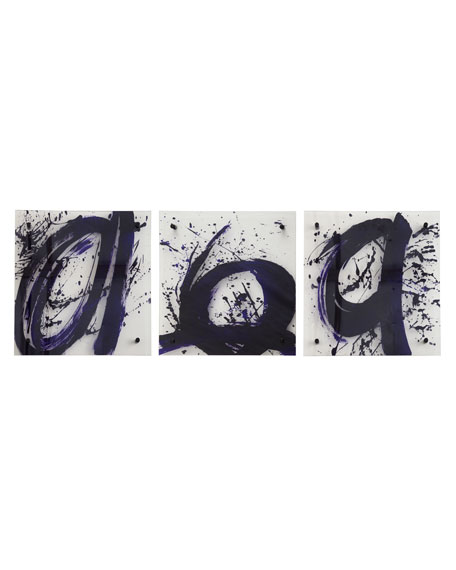 Three Abstract Script Prints