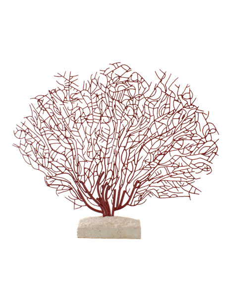 """""""Red Coral"""" Sculpture on Stone"""