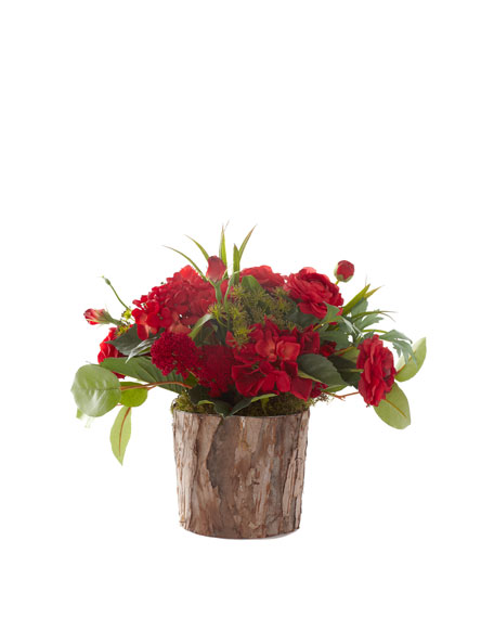 """Fireworks in Bark"" Faux-Floral Arrangement"