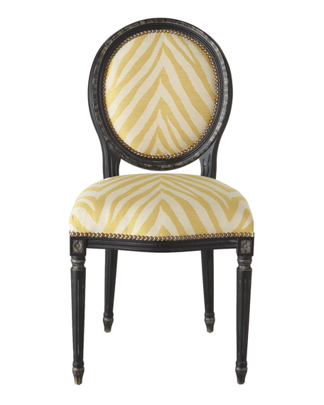 """Gretna"" Yellow Side Chair"