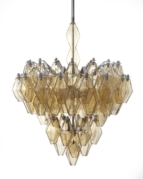 Amber Glass Chandelier