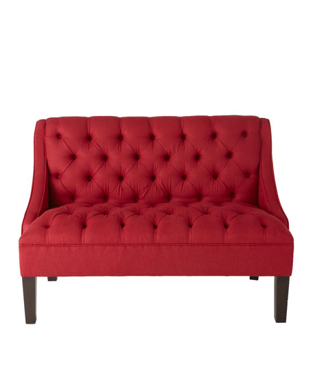 """Scarlet"" Tufted Settee"