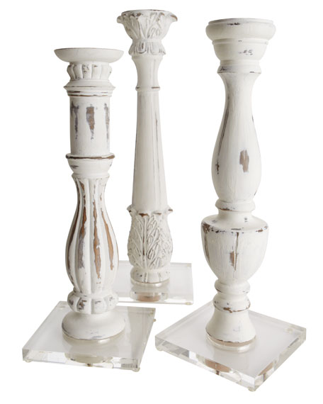 "Three ""Marais"" Candleholders"
