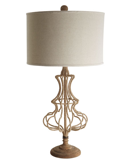 Wrapped Jute Lamp