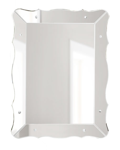Mirror-Framed Scalloped Mirror