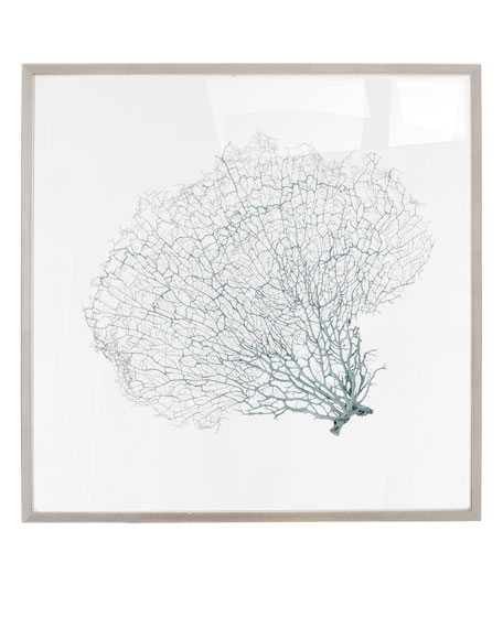 """Blue Haze"" Sea Fan Wall Decor"