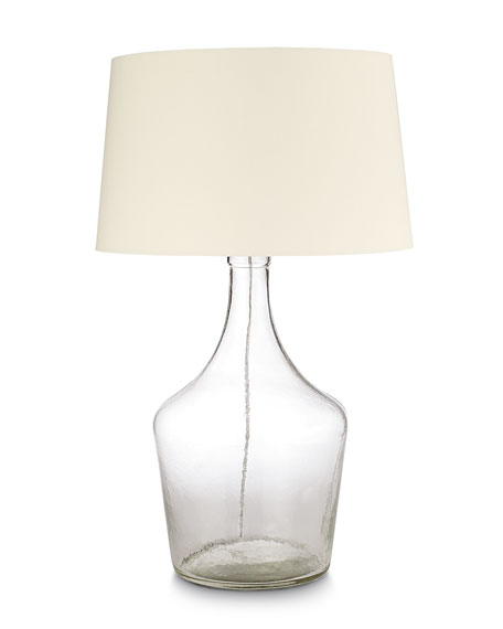 regina andrew design clear recycled glass bottle lamp