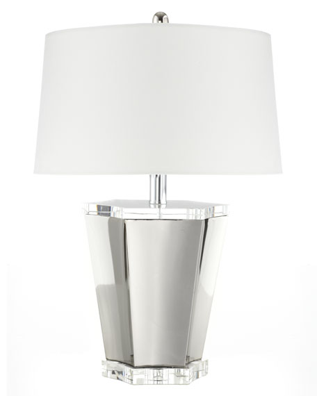 Chrome & Crystal Scallop Lamp