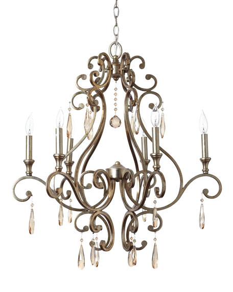 """Distressed Twilight"" Chandelier"