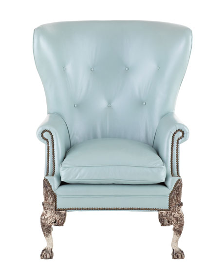 """Destiny"" Leather Wing Chair"