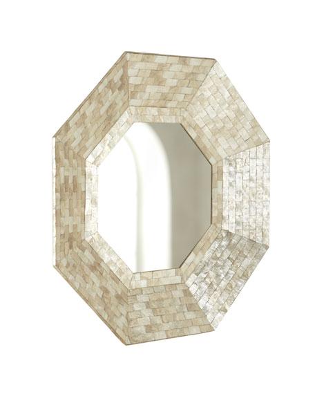 Octagonal Capiz-Shell Mirror