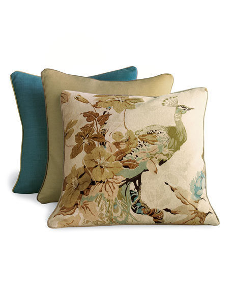 """""""Floral Peacock"""" Pillow Group"""