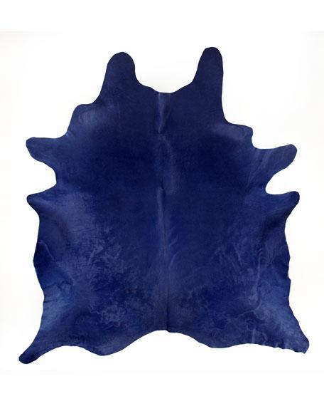 Delft Blue Hide Rug
