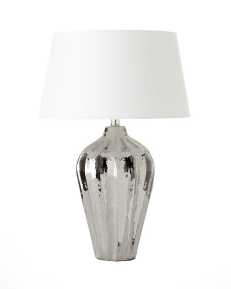 """Shelby"" Polished Nickel Table Lamp"