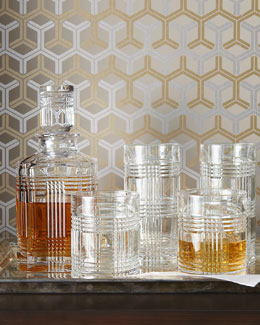 "Lauren Ralph Lauren ""Glen Plaid"" Crystal Barware"