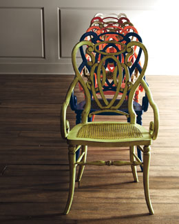 Wood & Woven Dining Chairs