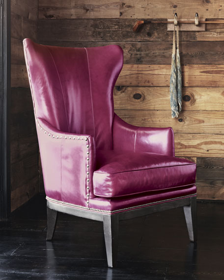 """Reba"" Leather Wing Chair"