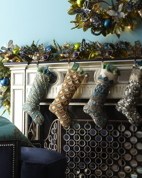 """""""Blue Spruce"""" Holiday Stone Stocking Hook"""