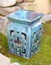 Turquoise Garden Seat