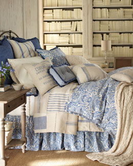 "French Laundry Home ""Indigo Sea"" Bed Linens"