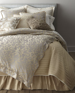 "Lili Alessandra Champagne/Silver ""Jackie"" Bed Linens"
