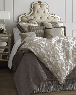 "Dian Austin Couture Home ""Pure Pewter"" Bed Linens"