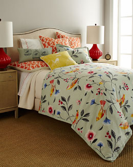"French Laundry Home ""Bianca"" Bird Bed Linens"