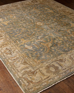 "Exquisite Rugs ""Cool Blue Oushak"" Rug"