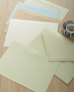 One-Line Embossed Notecards
