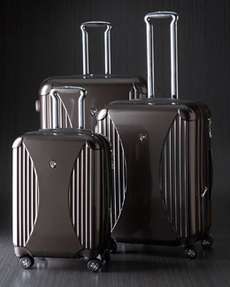 Heys Brown Four-Wheel Spinner Luggage