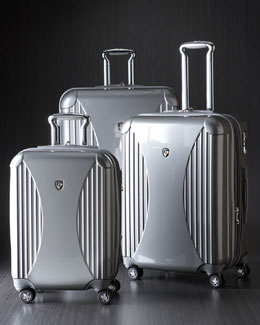 Heys Silver Four-Wheel Spinner Luggage