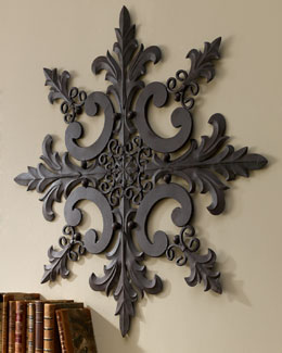 Iron & Tole Wall Medallion