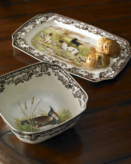 """Woodland"" Hunting Dog Serveware"