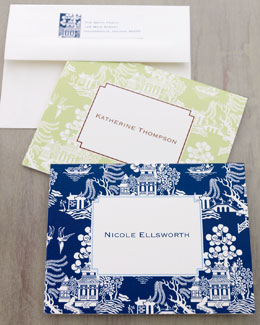 Boatman Geller Chinoiserie Notecards and Address Labels
