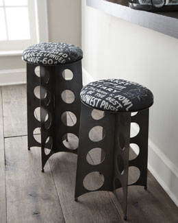"""Graffiti Tower"" Stools"