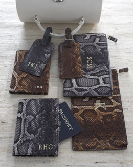 Graphic Image Faux Python Travel Accessories