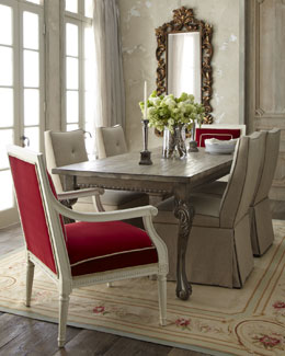 """Liday"" Dining Table, ""Tamara"" Chair, and ""Erica"" Dining Chair"