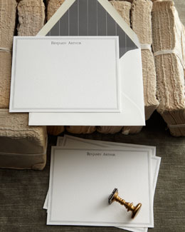 """Savile Row"" Letterpress Cards & Envelopes"