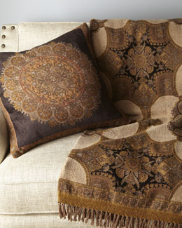 Chocolate Chenille Pillow & Throw