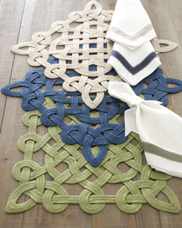 "JULIAN MEJIA DESIGN ""Gazebo"" Placemats & Ribbon Napkins"