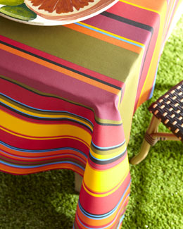 """Biarritz"" Striped Outdoor Tablecloth"