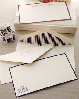 Bordered Correspondence Cards and Envelopes