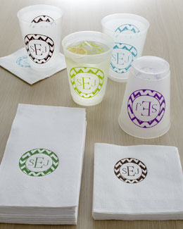 Personalized Chevron Napkins and Cups