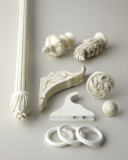 Aged White Curtain Hardware