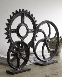 "CYAN DESIGNS ""Gear"" Sculptures"