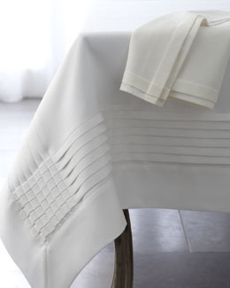 Multi-Pleated Table Linens