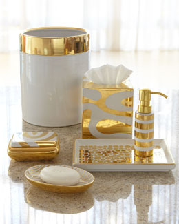 Waylande Gregory Porcelain & Gold Vanity Accessories